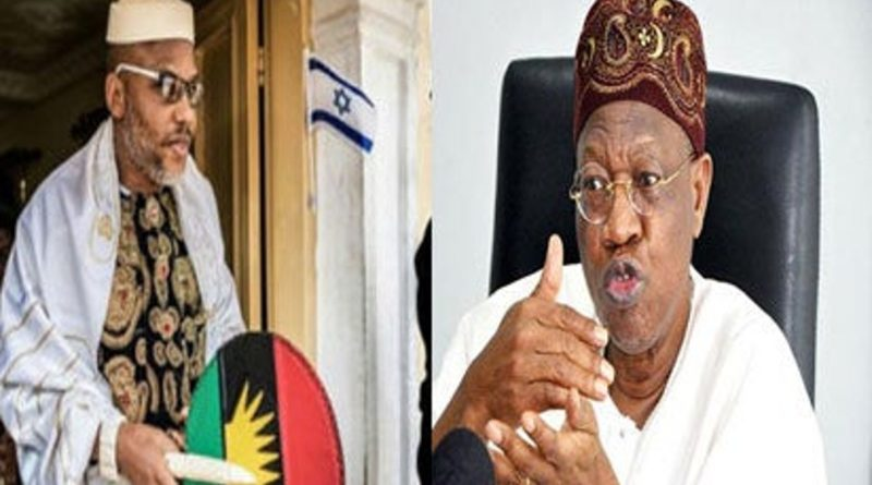 IPOB's leader blasts Minister over bandits, amnesty statements