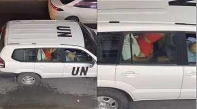 The UN official car on a viral video having s*x live leaked