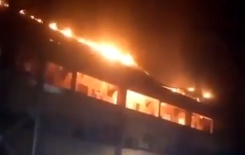 BREAKING: Radio Station Love FM 104.5 Abuja on Fire
