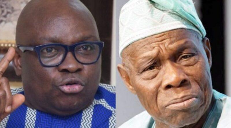 Obasanjo, PDP warns Fayose