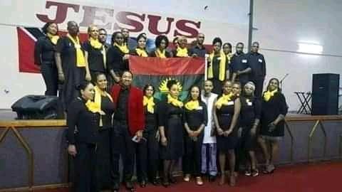 Pastor Mounts explain why Biafra Flag hoisted