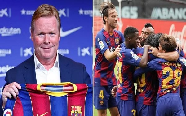 Barcelona New Boss, Ronald Koeman submits four players for the club