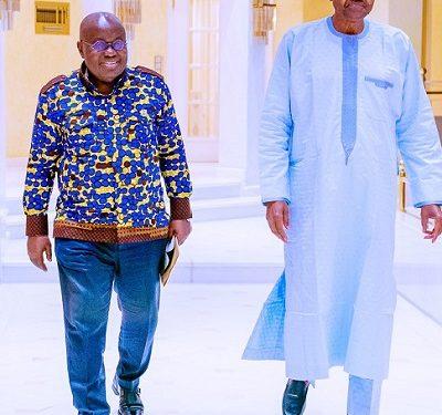BREAKING: Buhari, Ghana President Meet In Aso Villa