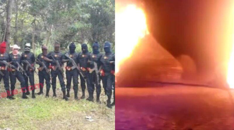 Breaking: Eastern Security Network Burnt Down Fulani Terrorist Camp In Ebonyi State