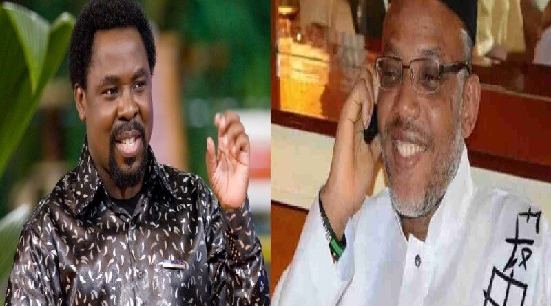 TB Joshua Prophecy About Nnamdi Kanu Finally Come To Pass In Canada