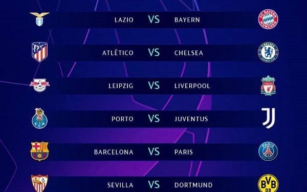 Barcelona to face PSG in UEFA Champions League out Round 16(Photo)