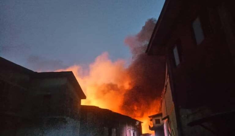 BREAKING: Iddo railway terminal in Lagos on fire
