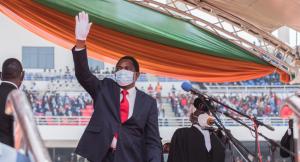 Newly elected Zambia President Hakainde Hichilema, Swear-in